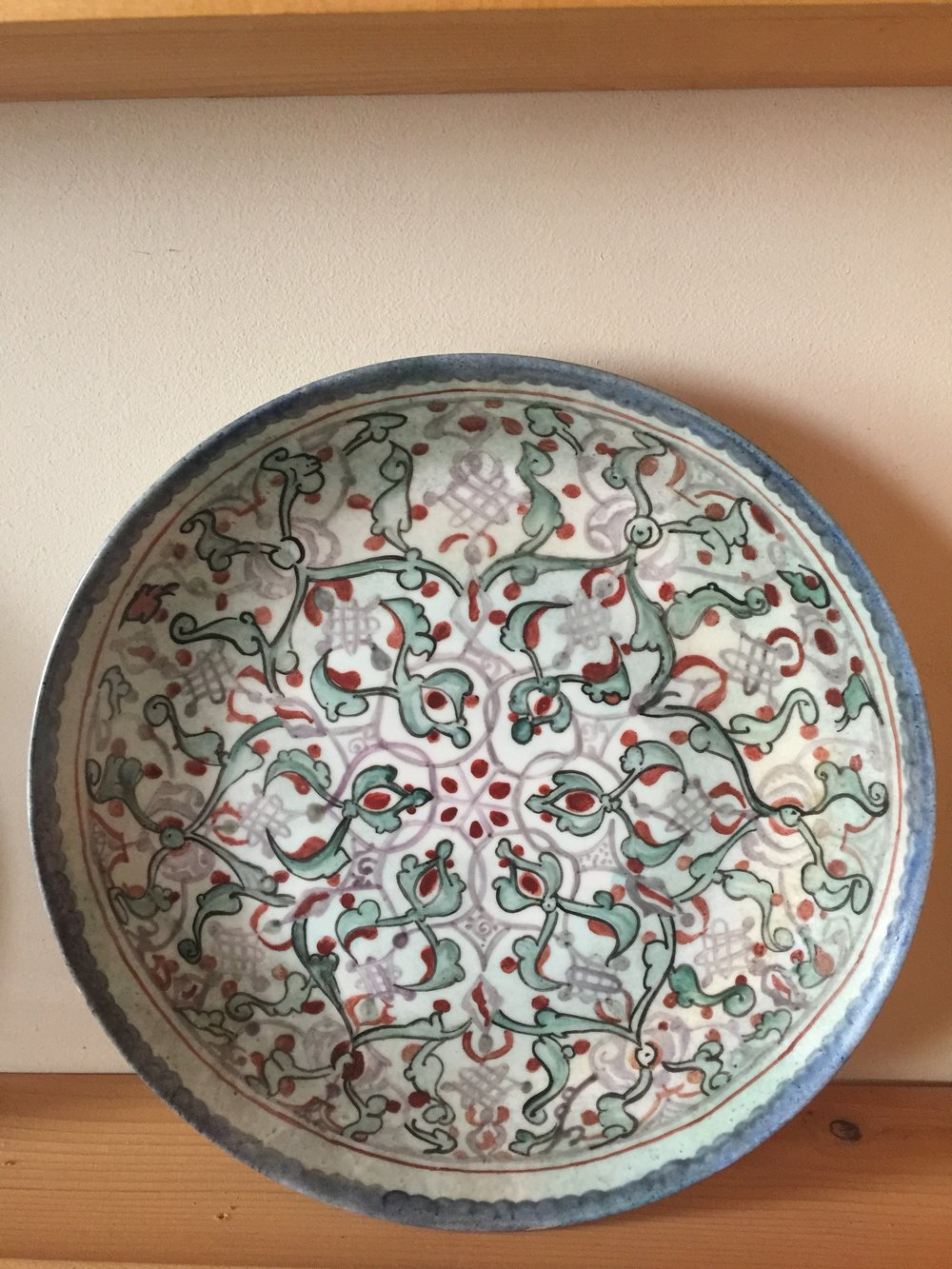 Detail of painted plate