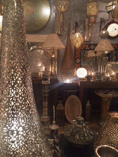 One of the many lamp shops in the medina