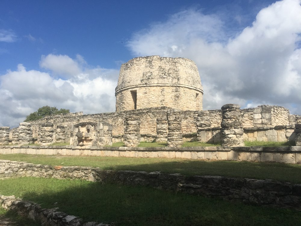 The most unique building we've seen at any Mayan Archaeological site. It's round!