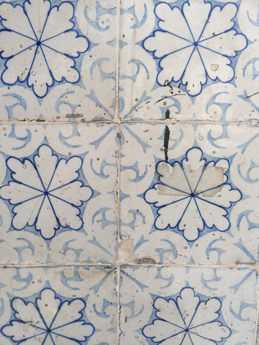The incredible tiles of Portugal. These were on the outside of a building in Lisbon.