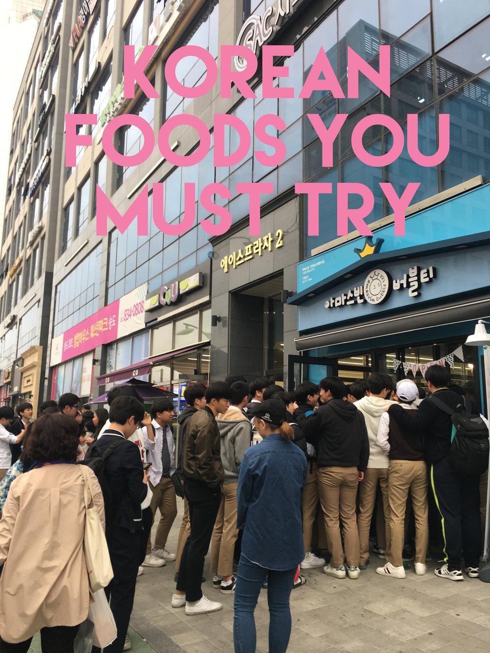 Korean Foods You Must Try