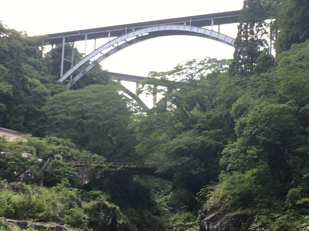 Bridges crossing Takachiho