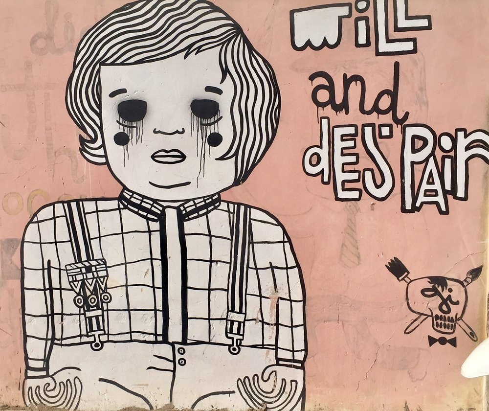 Tel Aviv - It's no surprise that the street art in Tel Aviv was creepy and political.