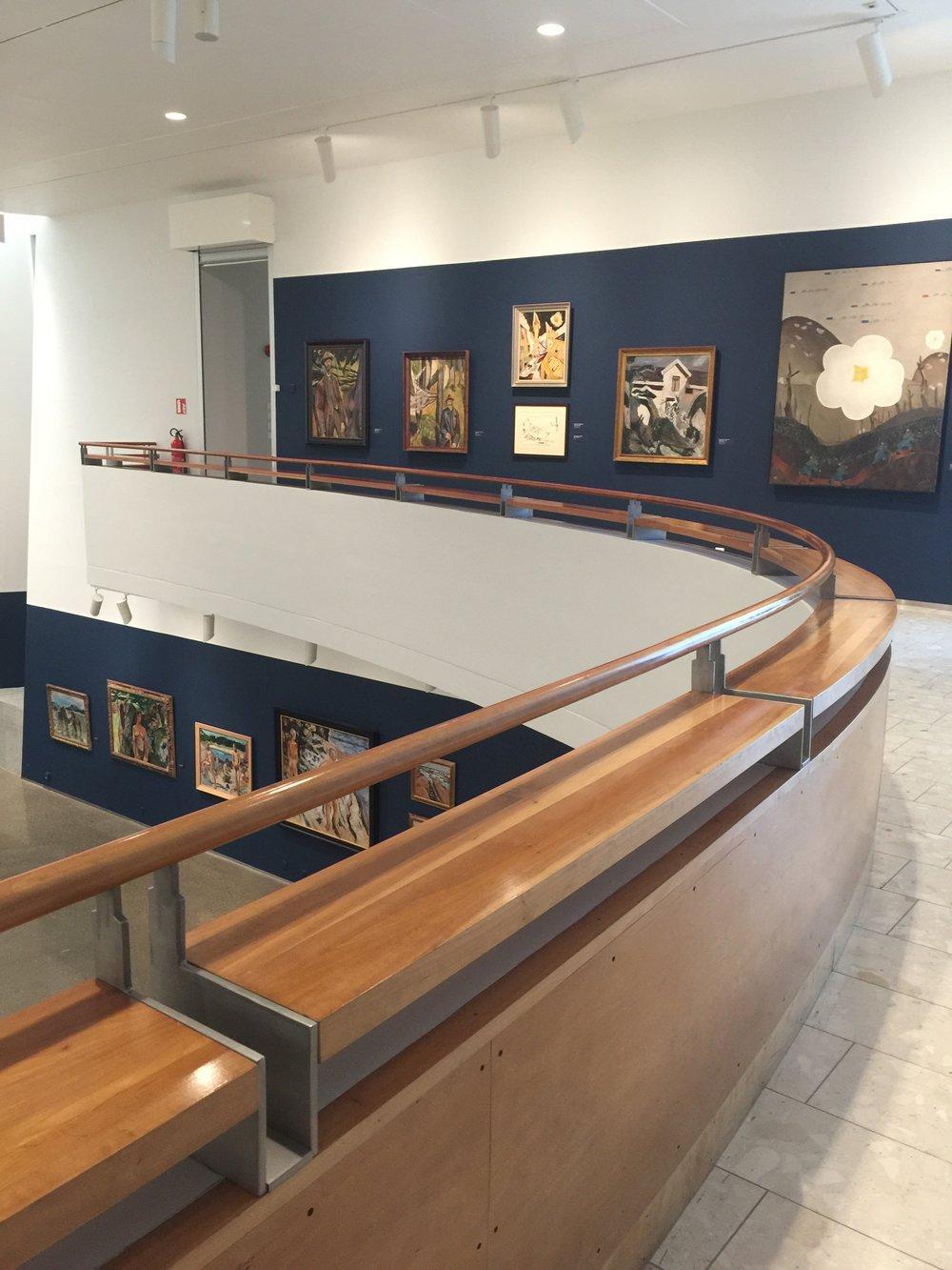 Top view round interior gallery