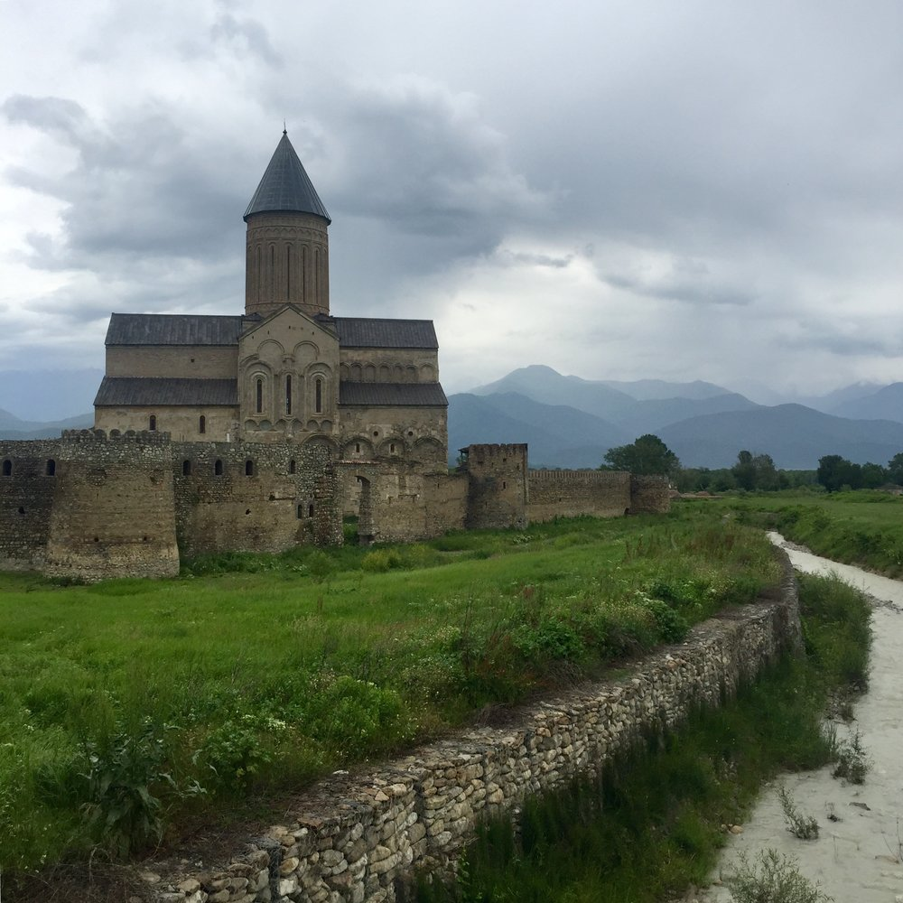 Church and castle in republic of georgia