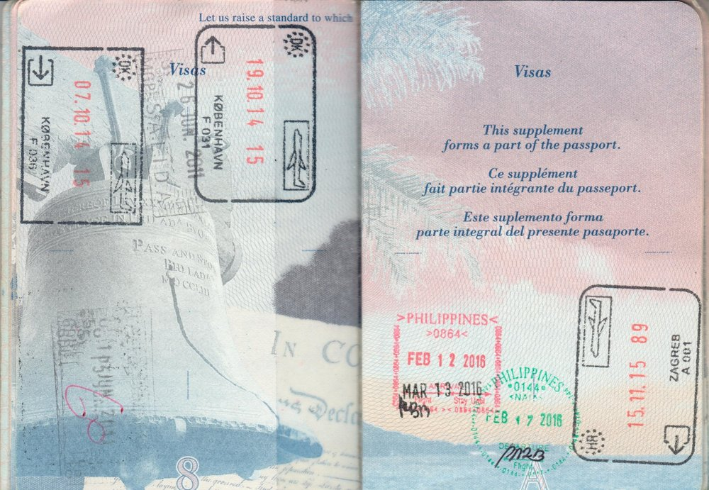 Stamped Passport Pages