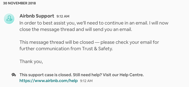 Airbnb support communication.png