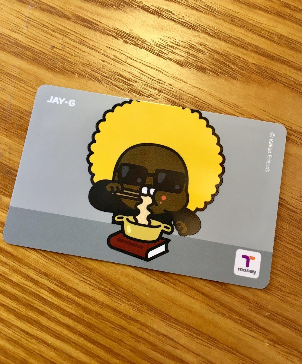 Jay-G Korean T Money Transit Card