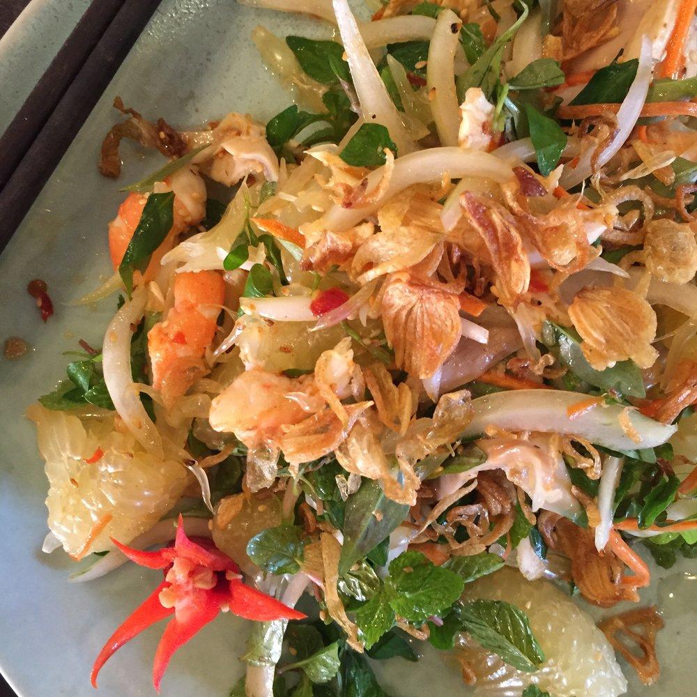 Freshly prepared street food in Hoi An, Vietnam