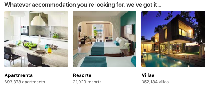 Screenshot from booking.com, an Airbnb competitor