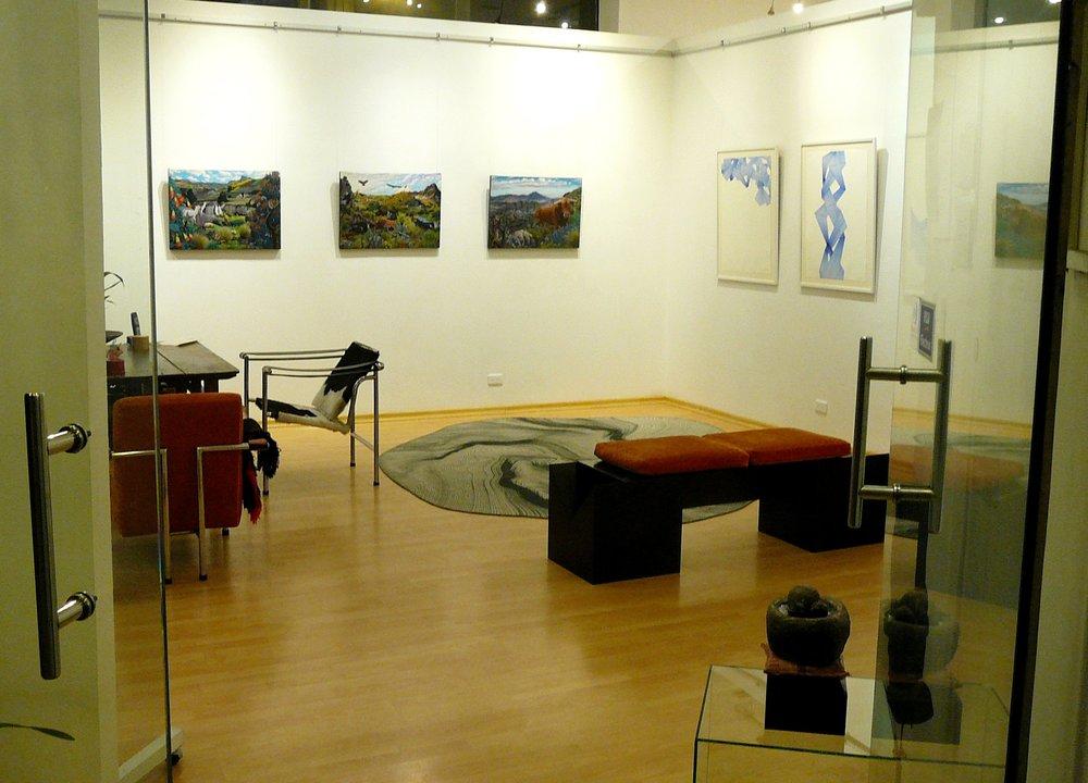 Foto de la muestra en ileana Viteri galería de arte.