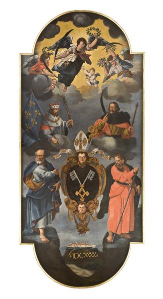 Österreichisch 17 Jh. Hl.hl.Petrus und Paulus Mineralienzimmer Stift Melk.jpg