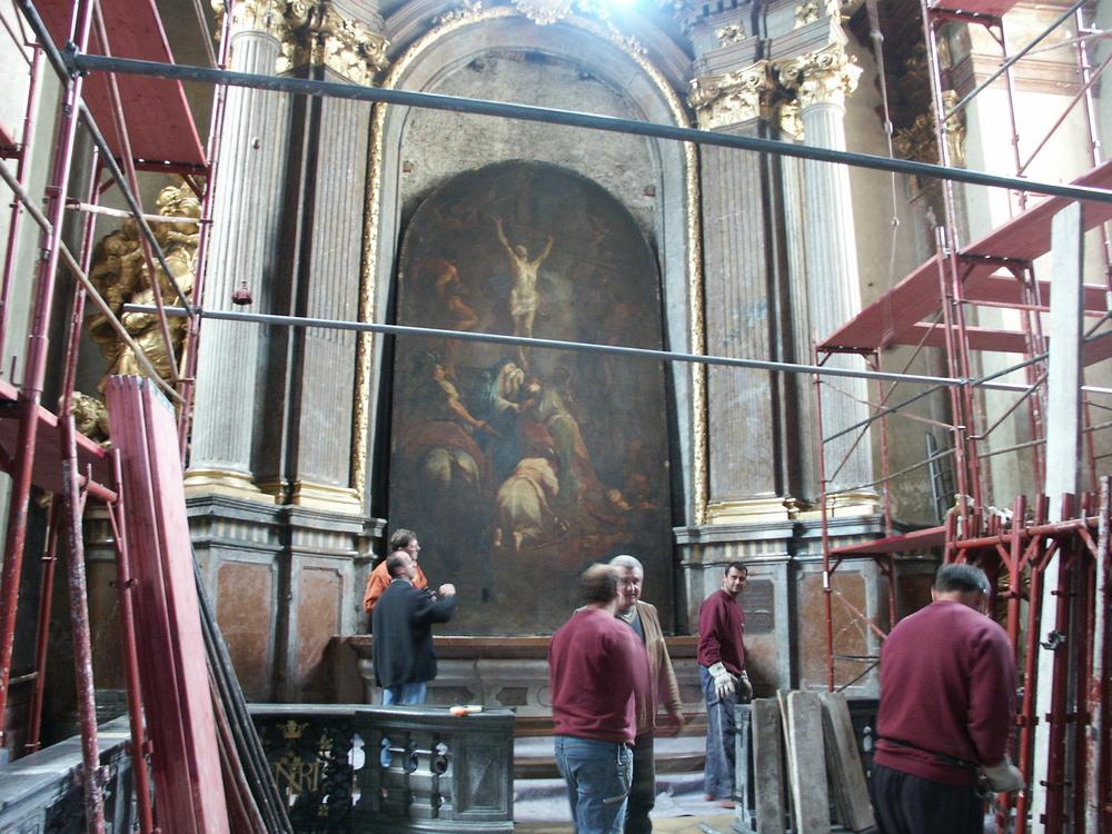 M.J.Schmidt Kreuzigung Christi Demontage vom Altar.JPG