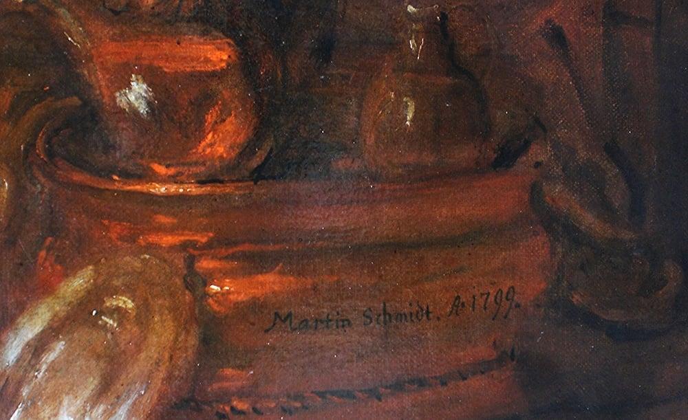Martin Johann Schmidt Letztes Abendmahl – Rechts unten:Signatur und Datierung