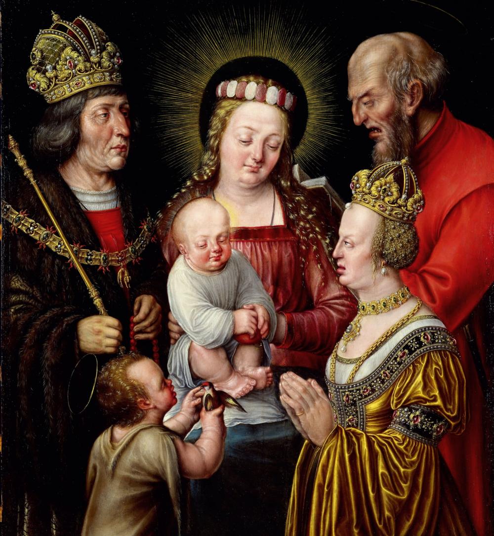 heilige familie um 1600 von Daniel Fröschl – zustand nach restaurierung