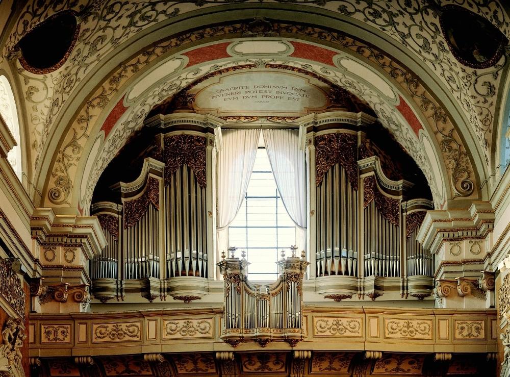 Schottenkirche Wien:Hauptorgel prospekt - zustand nach restaurierung 1996