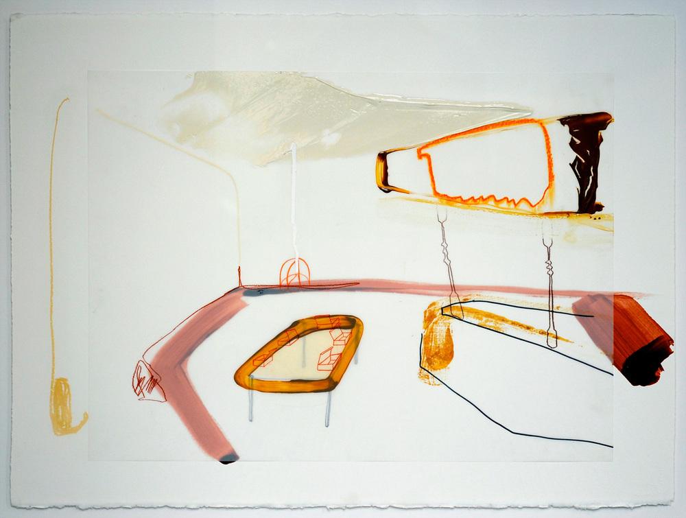 Prince BBQ , 201 Acrylique et crayons sur papier Mylar 30'' x 22''