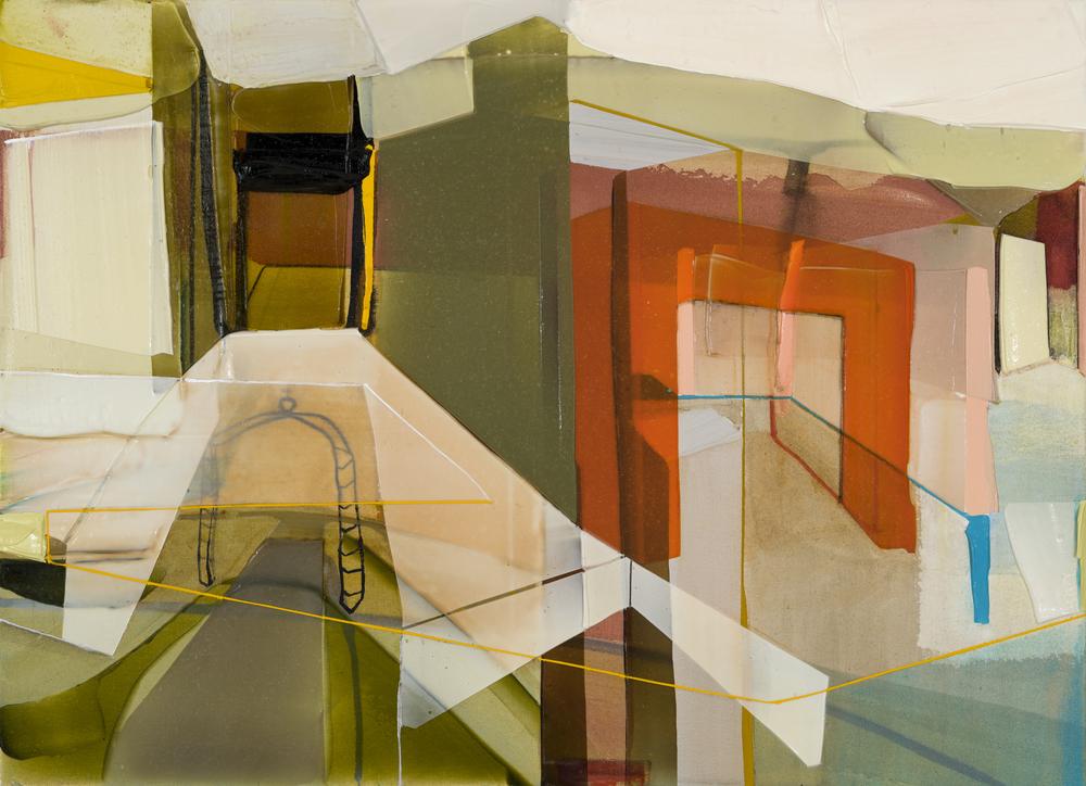 Verdict, 2016  acrylique sur toile     27'' x 37''