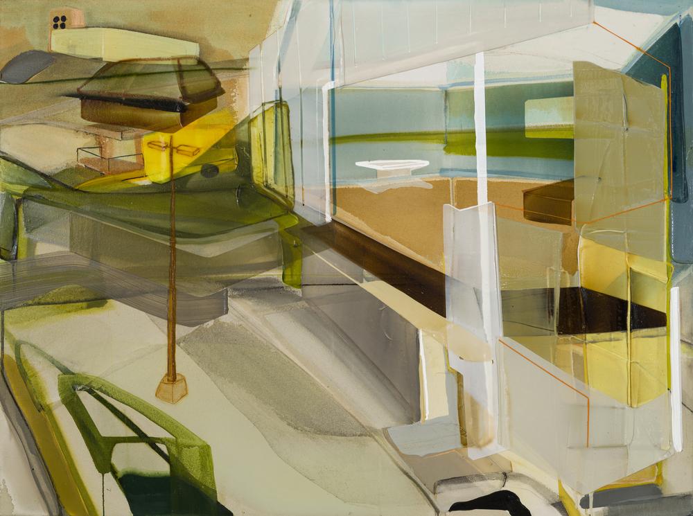 Délimitation contextuelle, 2016  acrylique sur toile     36'' x 48''