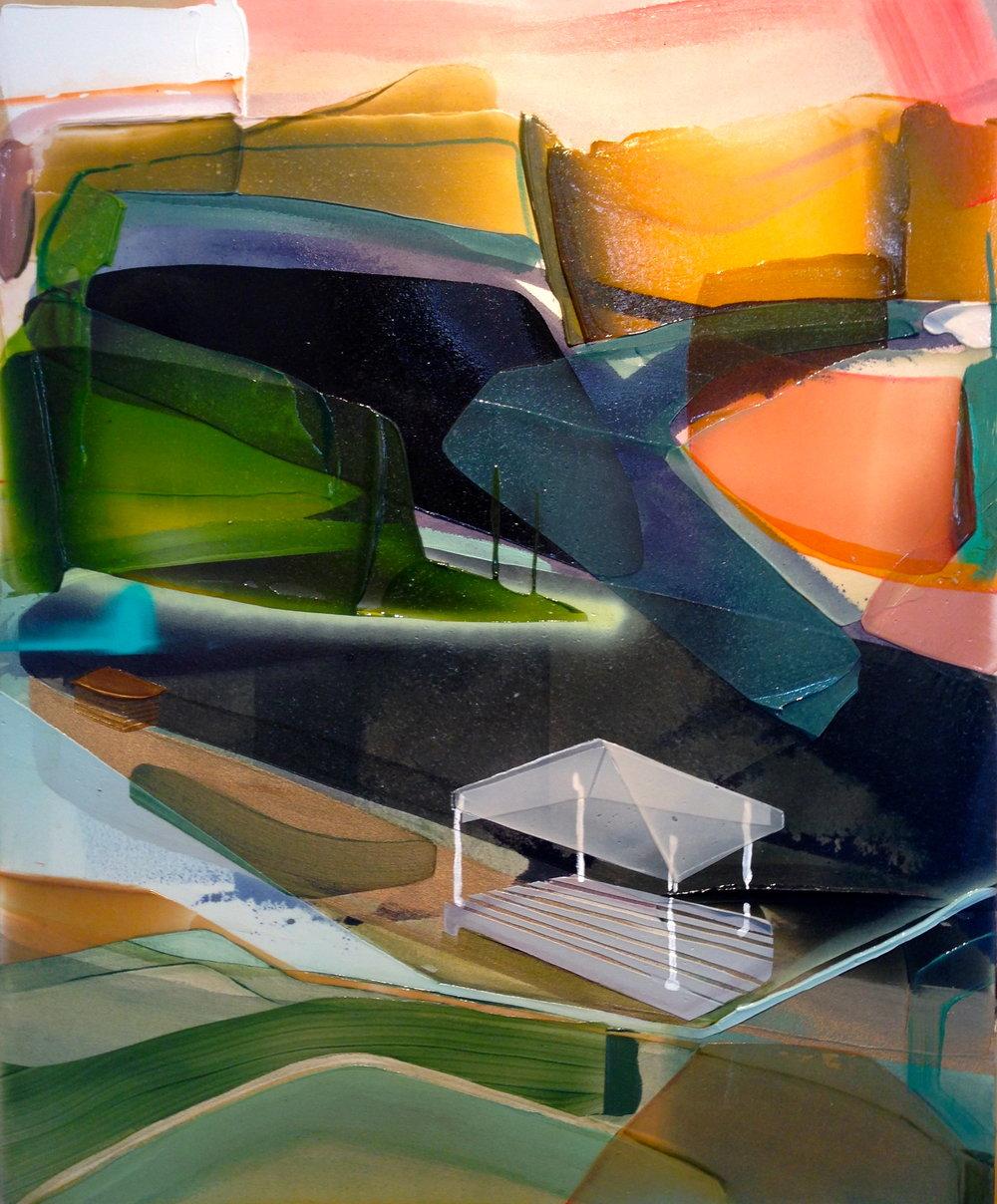Belvédère, 2016  acrylique sur toile  40'' x 40''
