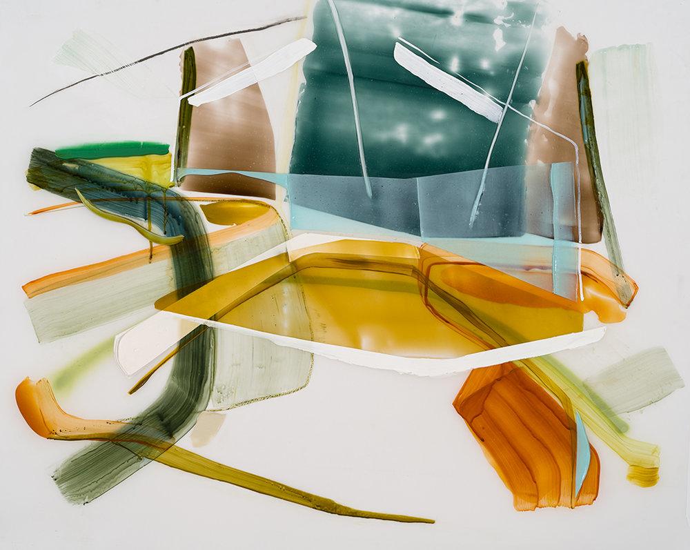 Étude pour un atelier, 2017  acrylique et crayons sur Mylar     36'' x 44''