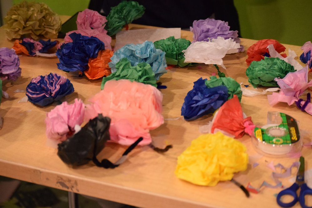 Diy Tissue Paper Flowers Abbott Square
