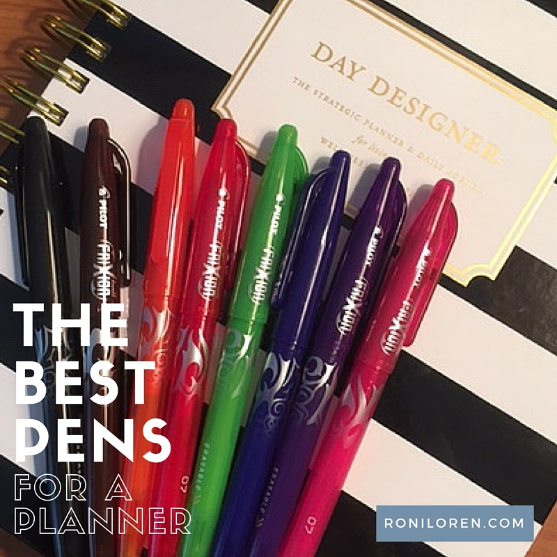 day designer and frixion pens title