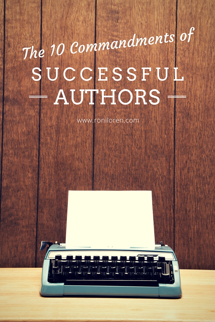 10 Commandments of Successful Authors