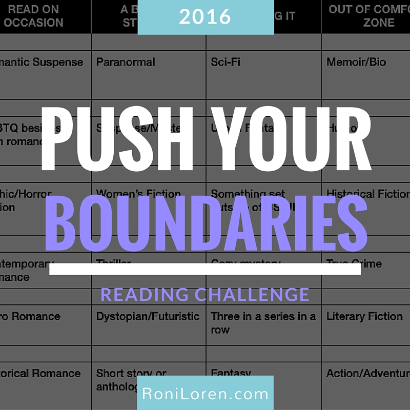 Push Your Boundaries Reading Challenge