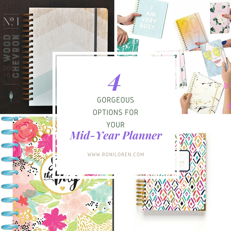 Four Gorgeous Mid-Year Planner Options