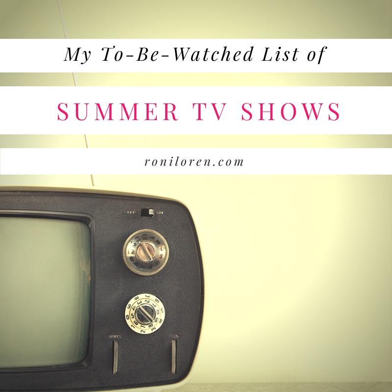 Tv Show List Summer 2016 — TTCT
