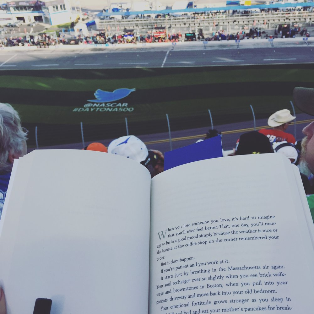 Yes, it was so good, I read it during caution laps at the Daytona 500.