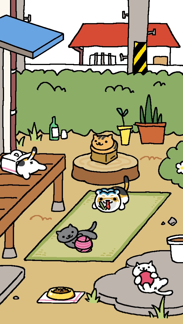 Collecting cats in Neko Atsume