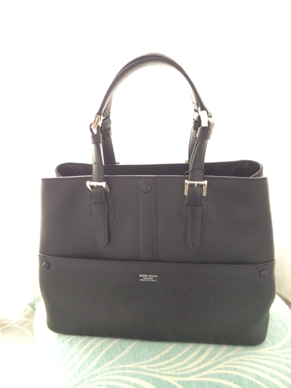 Giorgio Armani Weekend Saffiano Leather Top Handle Bag