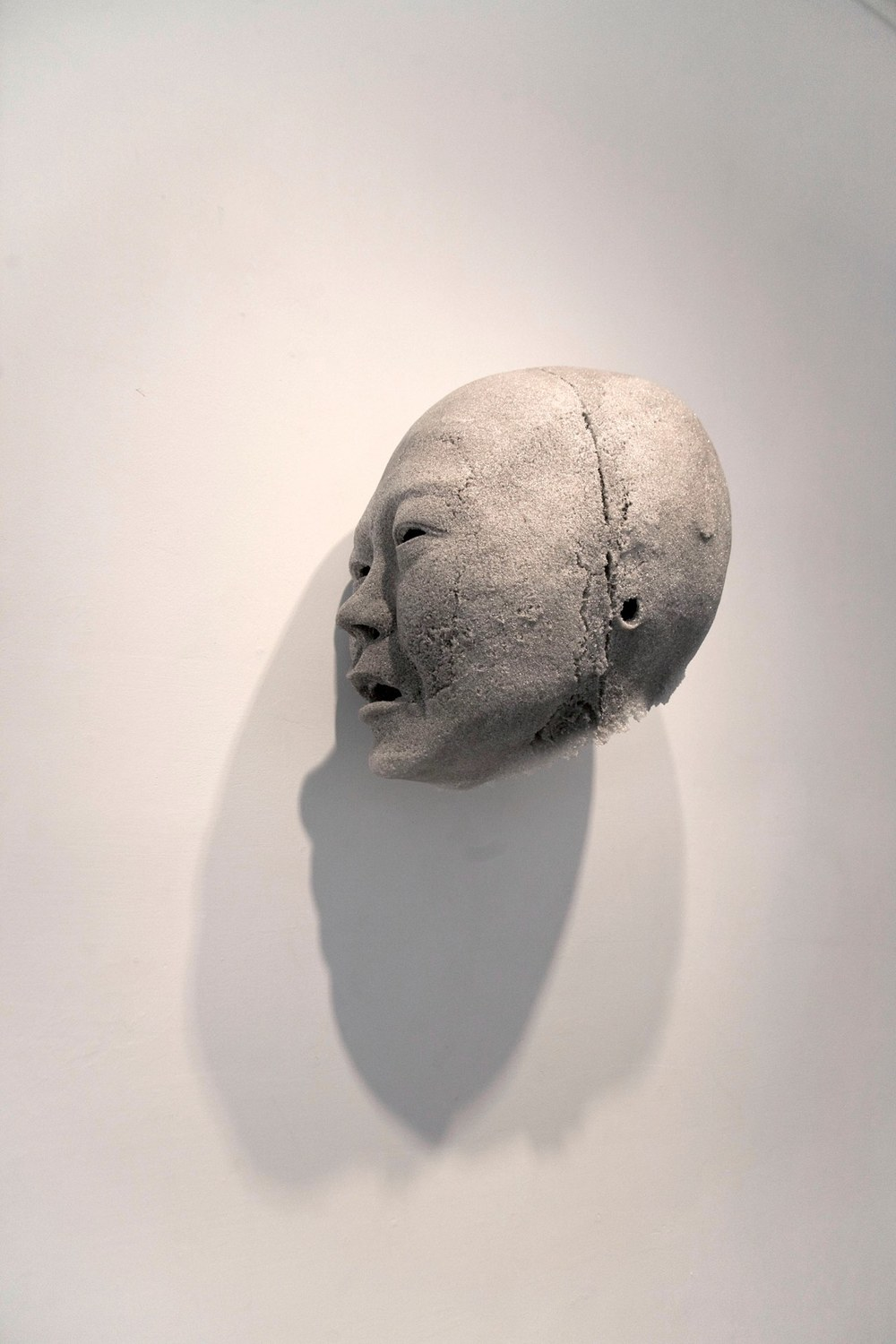 Carla on the Wall (Empty Series), 2006 kiln fired sintered glass approximately 14 x 8 x 10 inches
