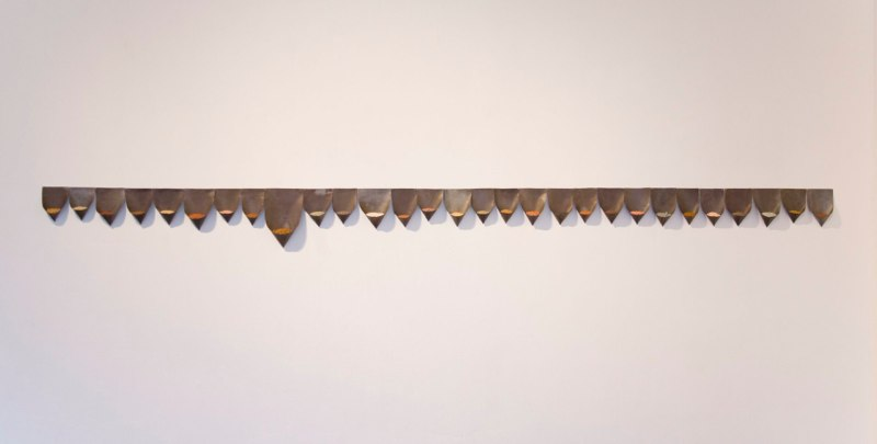 Collected Topography, 2012, lead, soil, dimensions variable