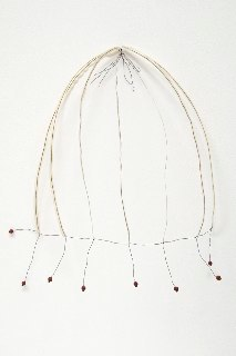 Winnow, 2009, wire, paper, rose hips, 23 x 21 x 5 inches
