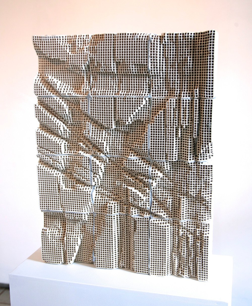 Slab #4, 2014 engineered ceramic block, cement  24 x 18 x 4 inches