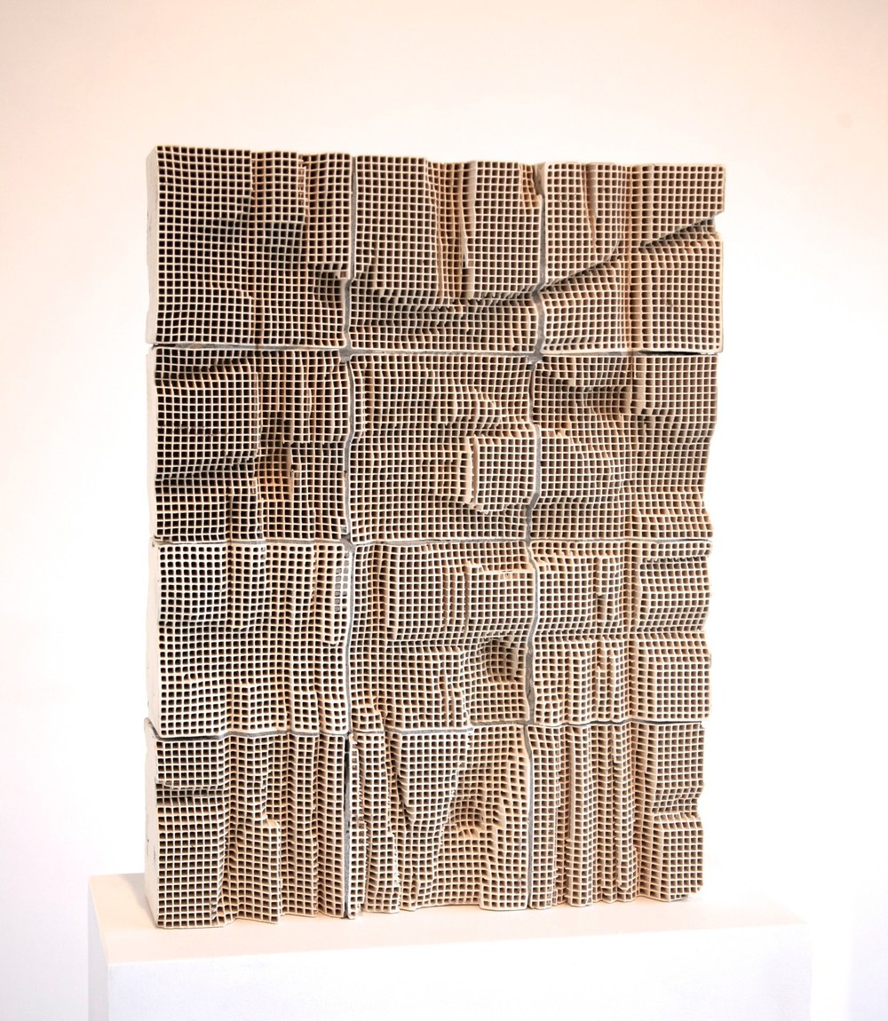 Slab #2, 2014 engineered ceramic block, cement  24 x 18 x 4 inches