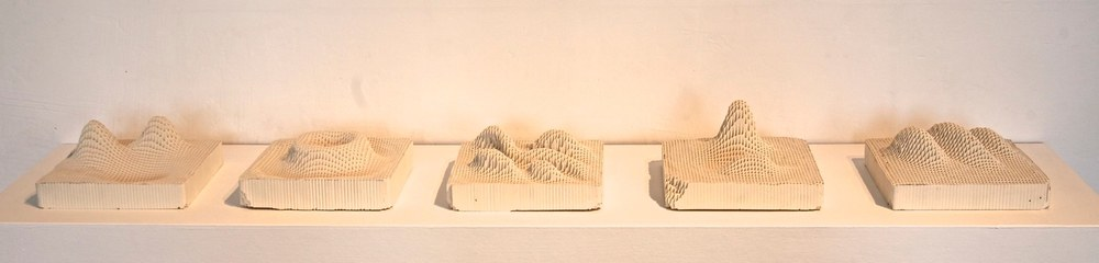 Wave(s), 2014 engineered ceramic block,  3 x 6 x 6 inches each