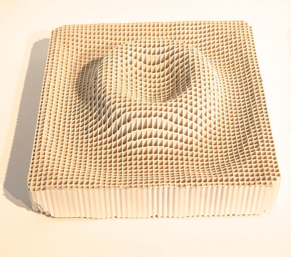 Wave Engineer, 2014 engineered ceramic block,  3 x 6 x 6 inches