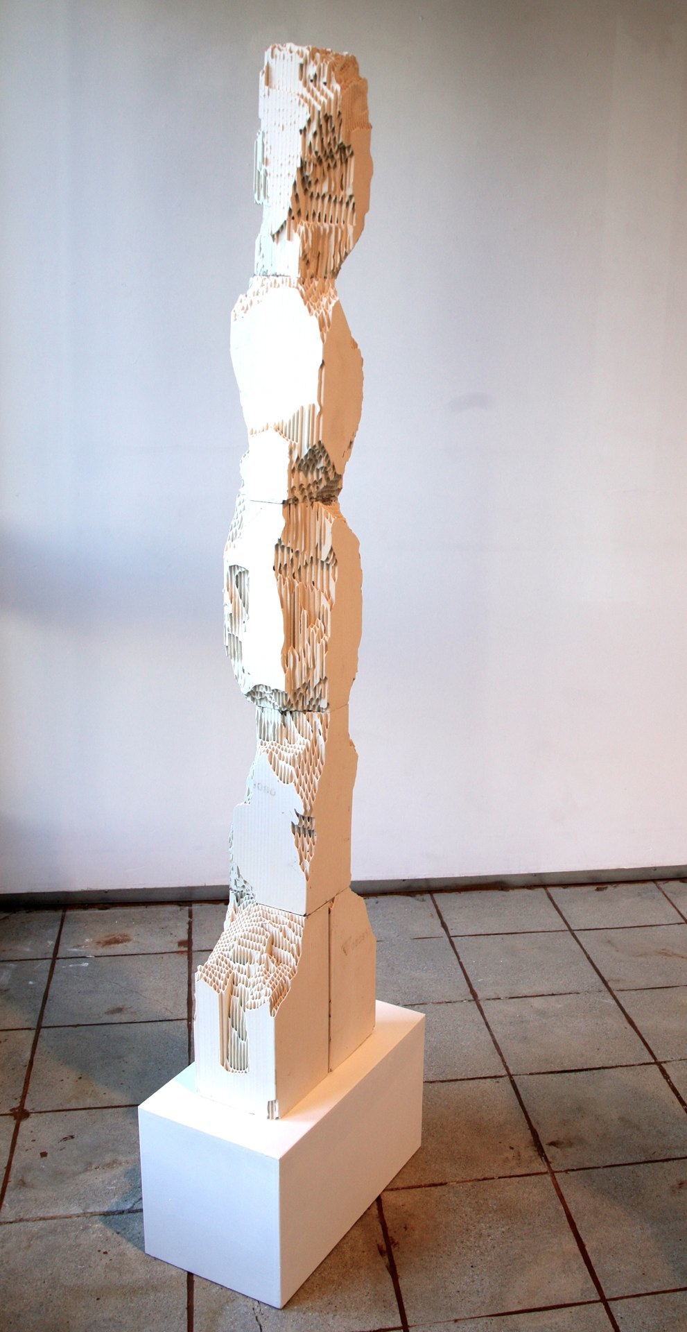 Rise and Fall, 2014 engineered ceramic block 60 x 12 x 6 inches
