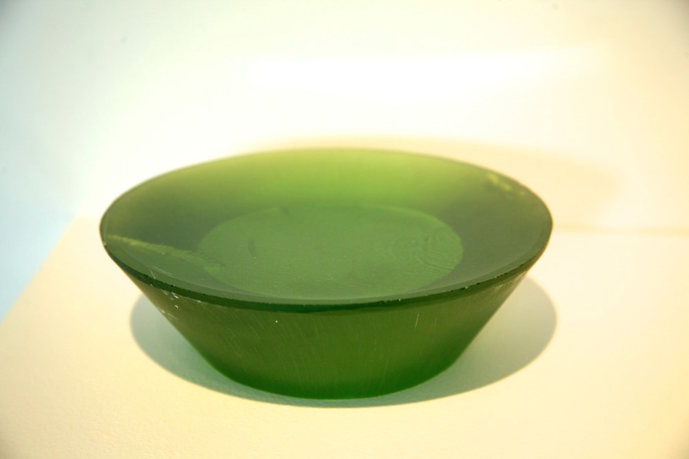 Green Pool, 2014 cast lead crystal 2 x 7 inches diameter