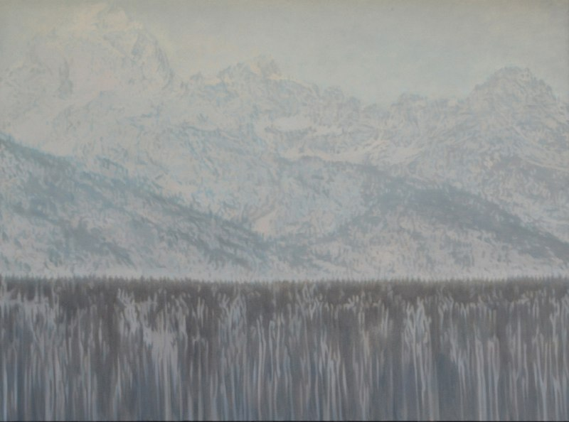 Holly Williams Epic Mountains, 2011 oil on panel 43 x 58 inches