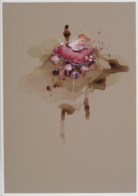 Jenn Shifflet Free Flow Four, 2010 acrylic, ink and watercolor on paper 27.5 x 19.75 inches