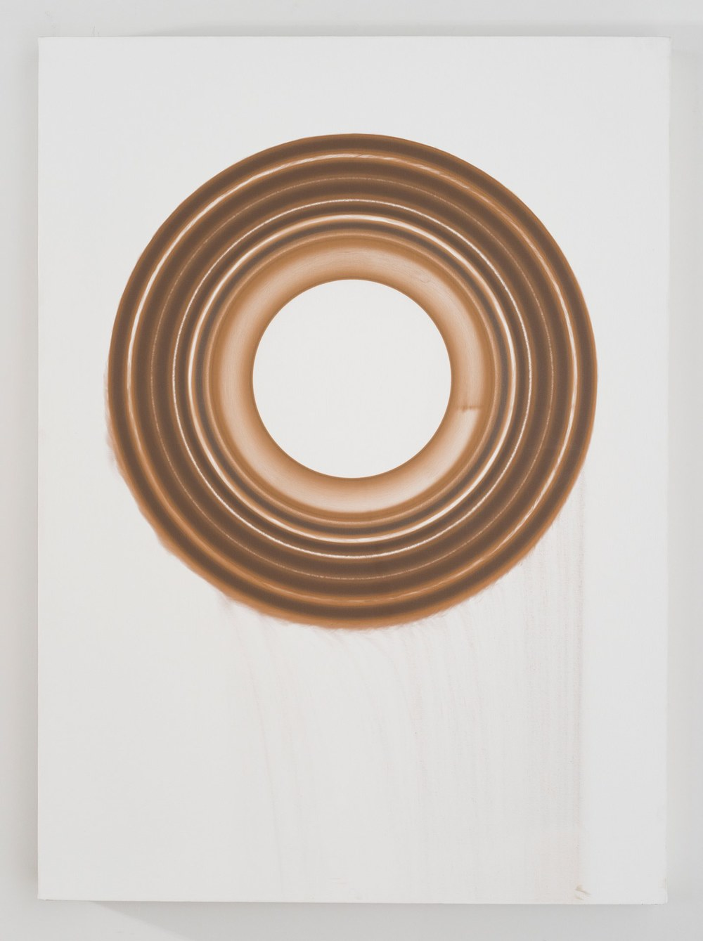 Jesse Houlding Ferrous Wheel Painting, 2012 iron on canvas 41 x 32 inches