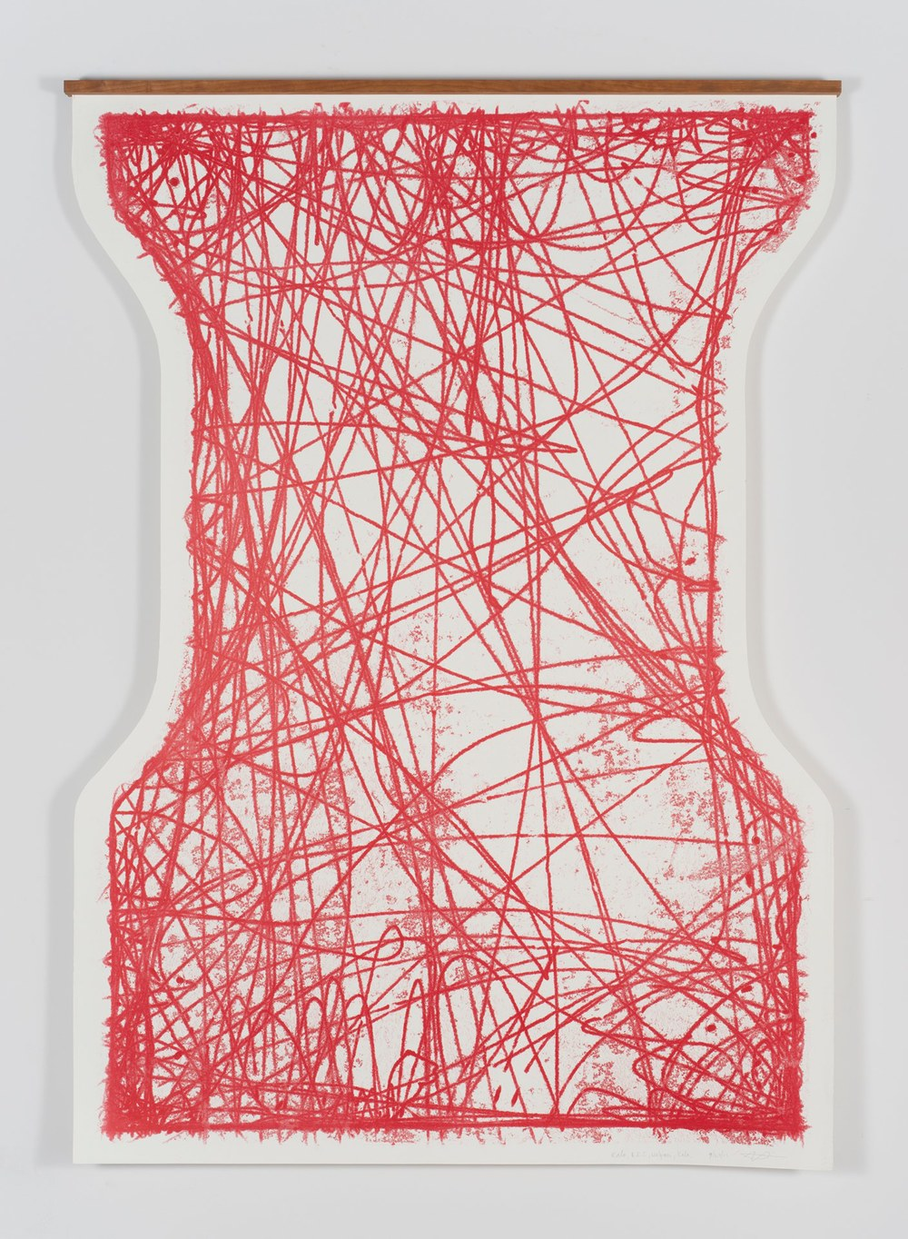 Jesse Houlding Truck Drawing- Kala, REI, Walgreens, Kala, 2012 rubber based ink, paper 72 x 48 inches