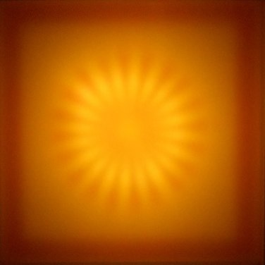 Cathy Cunningham-Little  Sunburst, 2011 neon, filter foils, acrylic, wood 36 x 36 x 8 inches