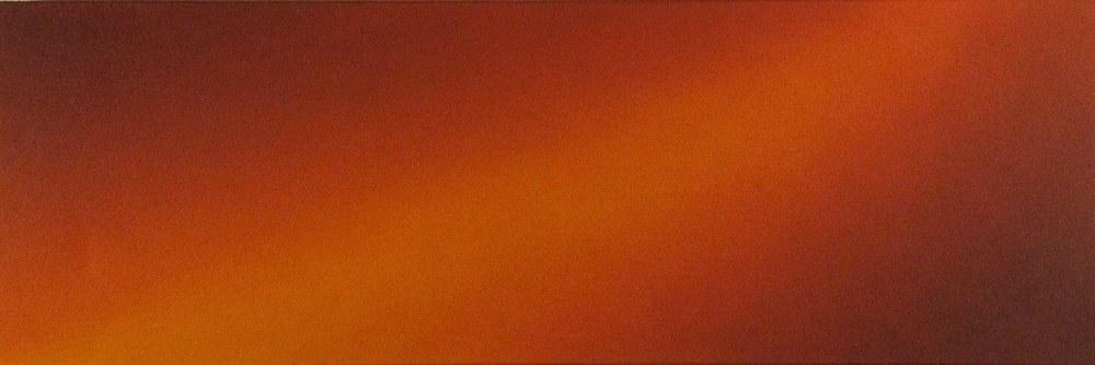 Dianne Romaine Chroma 11, 2010 acrylic on canvas 12 x 36 inches