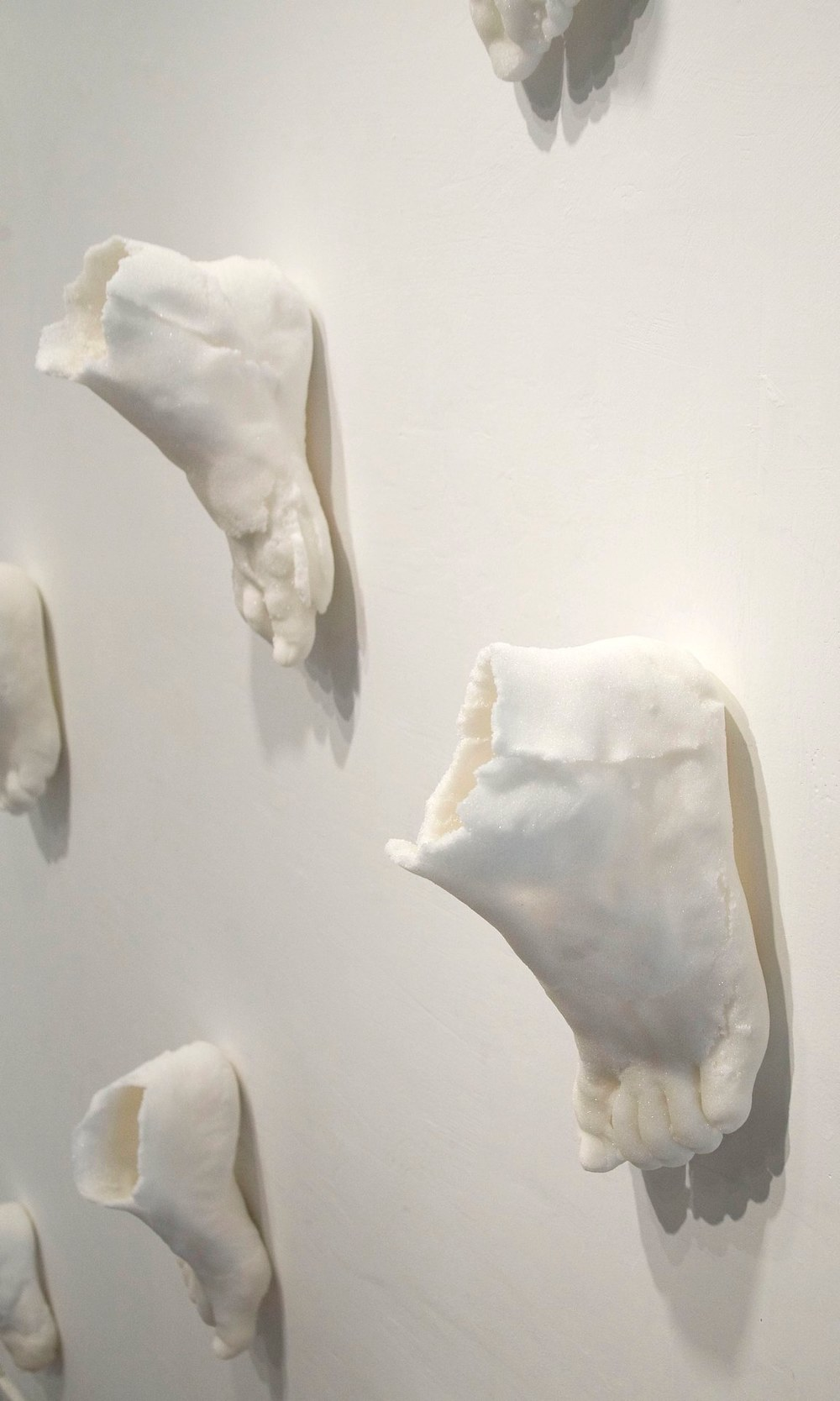 Lynne-Rachel Altman Phantom Sugar Feet, detail, 2013 pressed sugar size variable